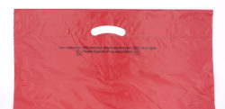 Red mailing bag - patch handle