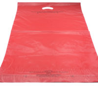 Red mailing bag